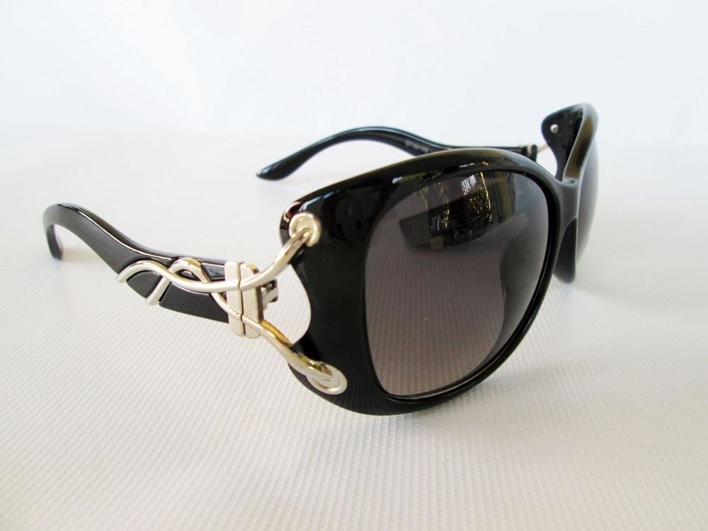 Good Black Cat Eye Sunglasses With Silver Metal Meshed Design For Fashion Women