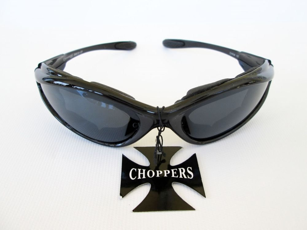 Brand New Men's Sporty Sunglasses With Black and Clear Lens and Padded Frames