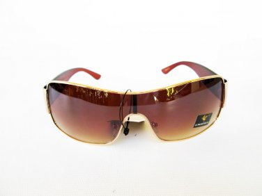 Good New Brown Shield Men's Sunglasses and Shades With Brown Frames