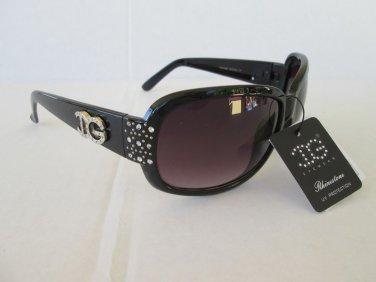 New Style Women Sunglasses & Shades With Smoke Black Lens & Rhinestones #IG097D