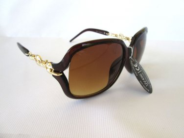Latest Style Style Women's Sunglasses with Black and Brown Lens #9801