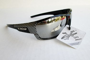 Brand New Men Sporty Light Weight Mirror Sunglasses Shades With Checkered Frames