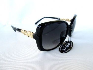 New Arrival Women Sunglasses with Black, Brown, Tortoise Frames with Gold Temple