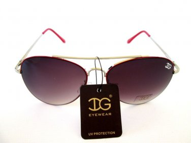 Popular Women Aviator Sunglasses With Light Black, Light Red or Smoke Lens - NEW