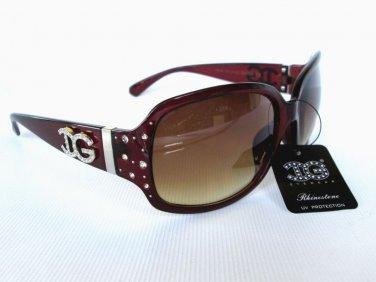 New Popular Style High Fashion Women Sunglasses With Big Black and Brown Lens