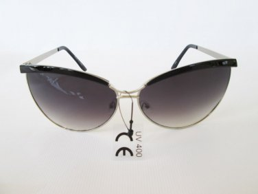 Womens Cat Eye Women Sunglasses with Black and Brown Lens