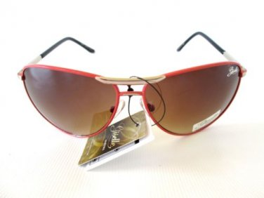 New Arrival Women's Aviator Sunglasses Shades with Brown Lens & Orange Frames