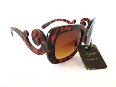 Popular Style High Fashion Brown Sunglasses With Baroque Frames for Women - NEW