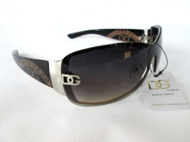 Good New Popular Style Women's Shield Sunglasses with Black and Tortoise Frames