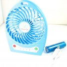 Blue Hadata Battery Portable Rechargeable Turbo Fan+Micro USB Charging Cable 03965-MnUSBFANnnnnL