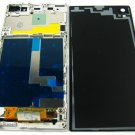 Full LCD Display+Back Battery Cover+Frame For Sony Xperia C6902 Z1~White 03597-MECLXperiaZ1W
