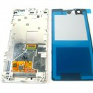 Full LCD Display+Back Battery Cover+Frame For Sony Xperia Z1 Compact~White 04408-MECLXperZ1CnW