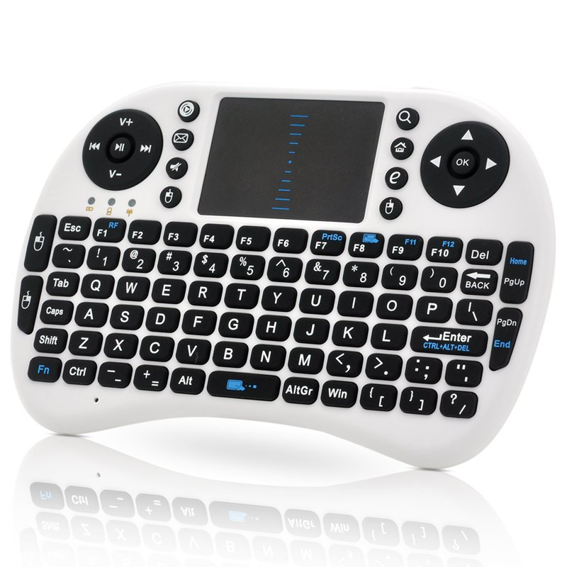 Wireless QWERTY Keyboard + Mouse Pad - Game Controller, Wireless Dongle