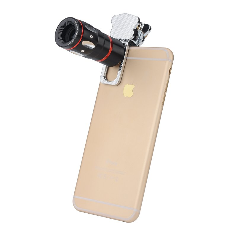 Universal 4-in-1 Cell Phone Lens Kit X10 Telescopic Lens, Fisheye Lens, Macro Lens, Wide Angle Lens