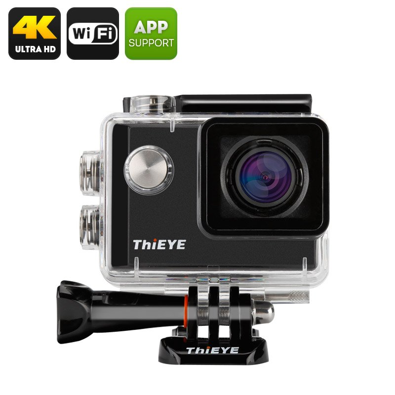 ThiEYE i60 4K Action Camera - 152 Degree Wide Angle, 12MP, 1.5 Inch TFT Display, Loop Recording
