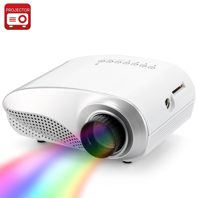 1080p Support Mini Multimedia LED Projector - 320x240, 1000:1 Contrast Ratio, 50 Lumens, HDMI Port