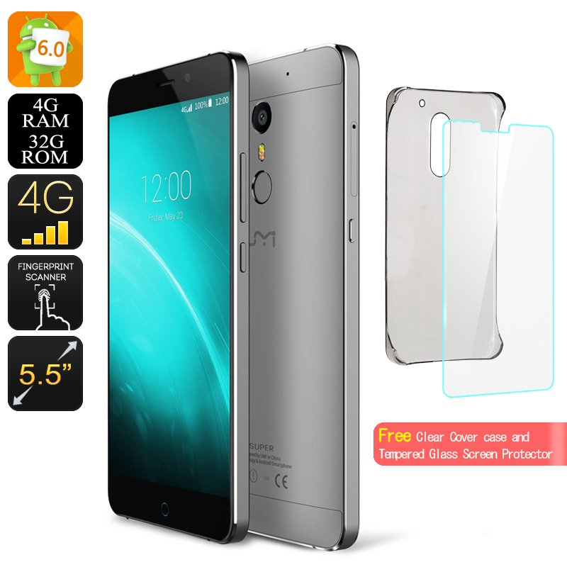 UMI Super Android 6.0 Smartphone - 4GB RAM, 64BIT Octa Core, 4G,  256GB SD Slot, Quick Charge