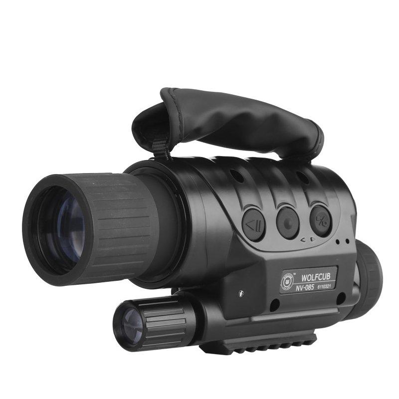 NV-440D+ Night Vision Monocular - 560M range, 4 x Zoom, 16GB Micro SD, 1.3MP CCD, Built-in Camera
