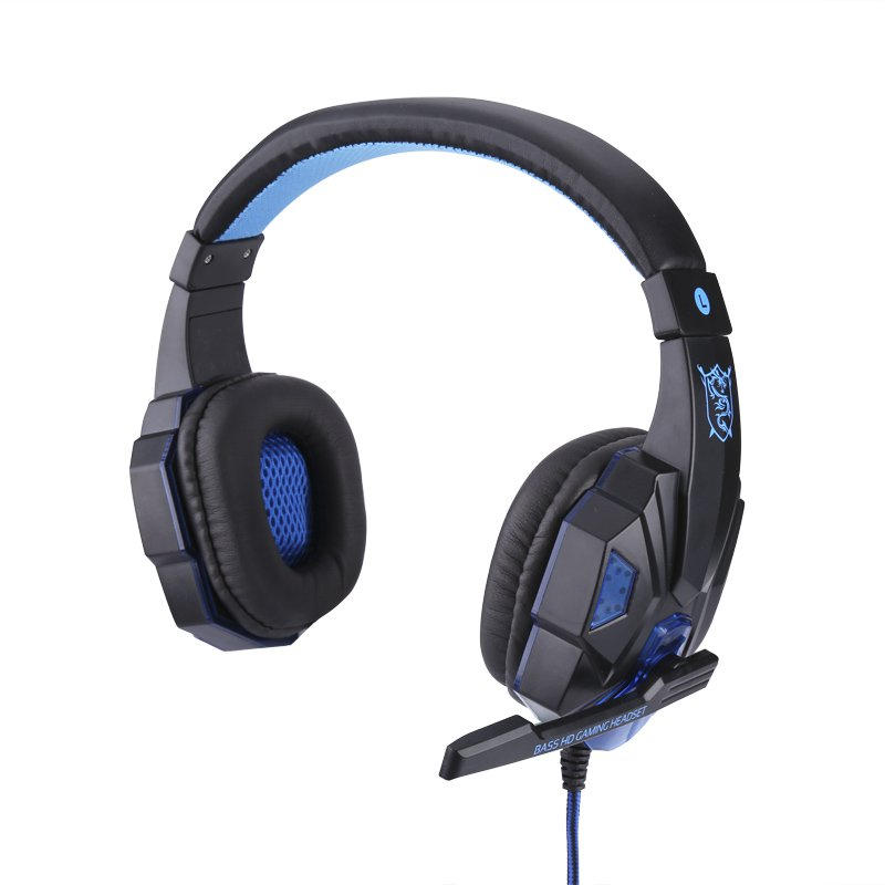 LED Gaming Headphones - Retractable Mic, Stereo Headphones, Built-in LED, Comfortable Padding