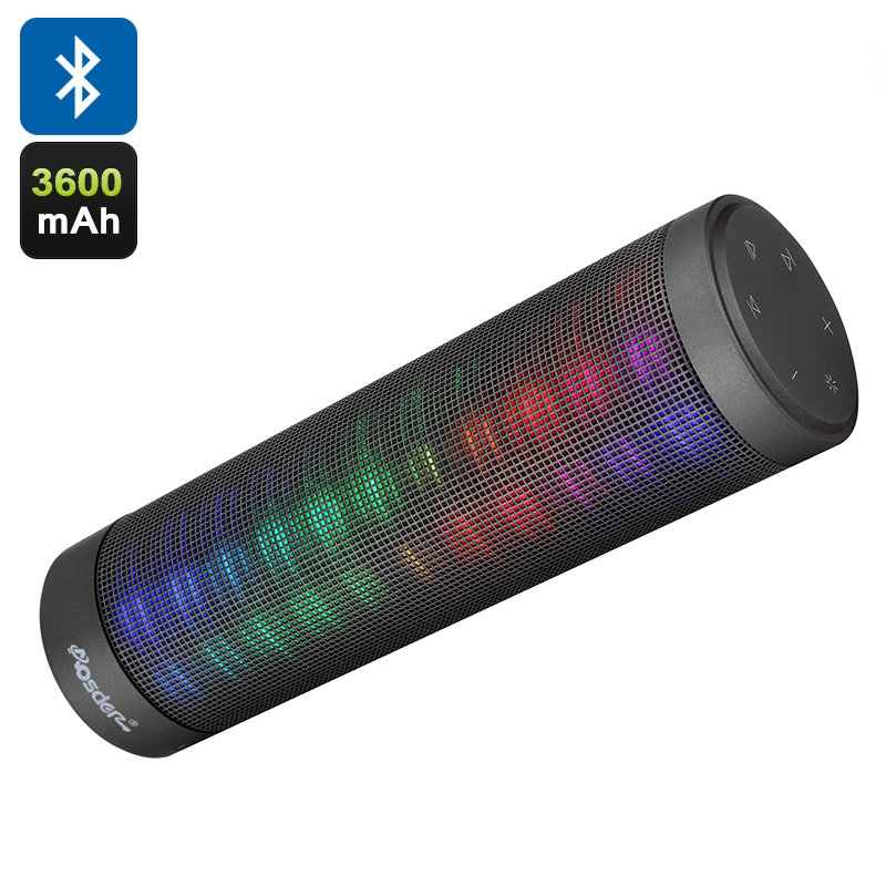 Aosder Portable Bluetooth Speaker - DSP Sound Processing Chip, Stunning LED Effects, EQ Adjustment