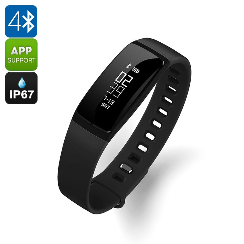 Ordro S11 Smart Sports Wristband - 0.87 Inch OLED, BT 4.0, Waterproof, Pedometer, Heart Rate Sensor