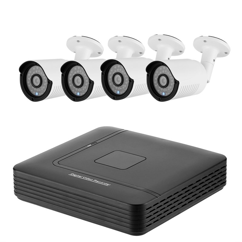 A4B2 4 Channel AHD DVR System - 4 HD IP66 720P Cameras, Motion Detection, 20M Night Vision, Remote