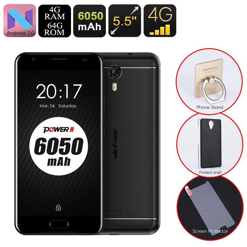 Android Phone Ulefone Power 2 - Octa-Core CPU, 4GB RAM, 6050mAh, 1080p, 2 IMEI, 4G, 13MP Cam