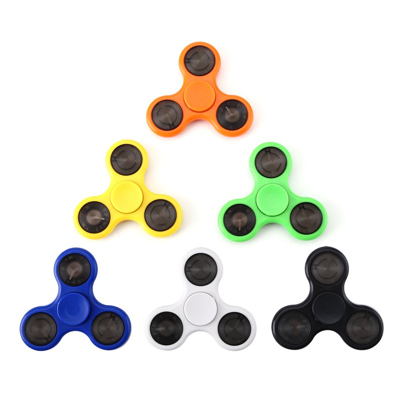 6 Piece Fingertip Gyroscope Pack ABEC-7 Bearings, ABS Material, Reduce Stress + Anxiety, LED Lights