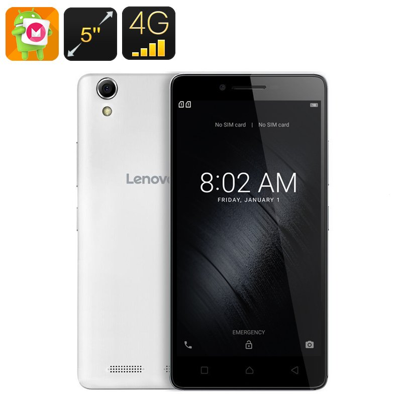 Lenovo K10 Android Smartphone - 5-Inch, 128GB External Memory, Quad-Core, 2GB RAM