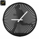 Animated Zoetrope Wall Clock - 12 Inch Face, Running Man Animation, Quartz Movement, Ultra Quiet