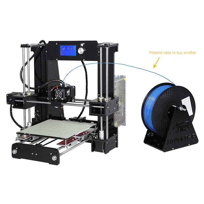 ANET A6 DIY 3D Printer Kit - Metal + Acrylic Frame, Multiple Filaments, 100MM Per Second Print Speed