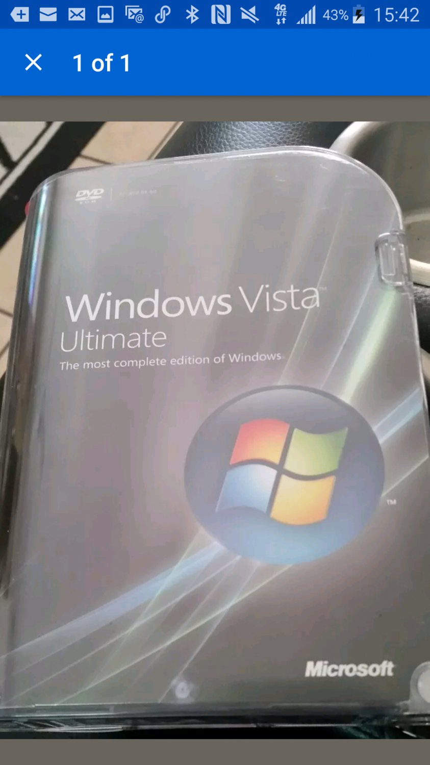 MICROSOFT WINDOW Vista Ultimate 32 and 62 Bit dvd