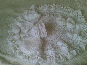 Hand Crocheted Baby Set  CELTIC design