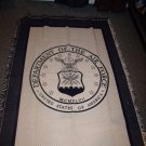 The Dept of Air Force Woven Blanket Throw NWT. Made in the USA!