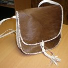 Genuine African Goat Hide & Hair Purse Handbag