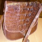 Genuine African Crocodile Tribal Purse Handbag
