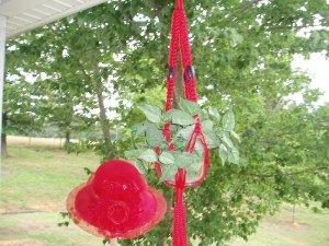 RED HAT SOCIETY MACRAME PLANT HANGER