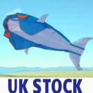 UK STOCK - OCEAN WORLD 3D BIG WHALE / DOLPHIN FRAMELESS PARAFOIL KITE FLYING TOY OUTDOOR