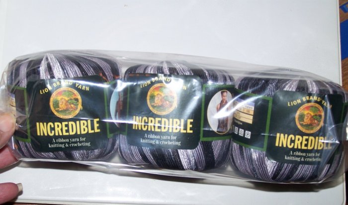 lion brand incredible ribbon yarn