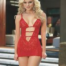 Babydoll With Chiffon Sides and Bare Midriff With Toggle Straps