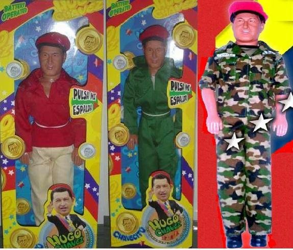 Hugo Chavez ACTION DOLL, THREE IN PACK