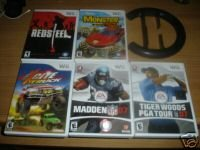 4 NINTENDO WII GAMES VERY RARELY USED