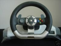 Xbox 360 Wireless Steering Wheel w/Forza MS 2 and PGR3