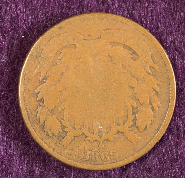 1865 2 Cent AG/G