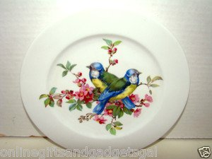 vintage plate of birds/germany