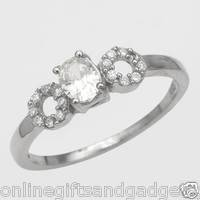 Brand New Ring With 0.60ctw Cubic zirconia in 925 Sterling silver- Size 7