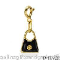 DV ITALY Irresistible Brand New Purse Charm  - Two tone Enamel and 14K/925