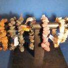 LOT OF 8 SEMI-PRECIOUS GEMSTONE STRETCH BRACELETS - NEW