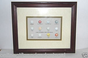 MADE IN BRITAIN FRAME PICTURE OF EARLY RUBBER CORE GOLF BALLS