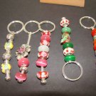 STUNNING GLASS  STYLE KEYCHAINS